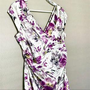 Maggy London Purple Floral Print Dress